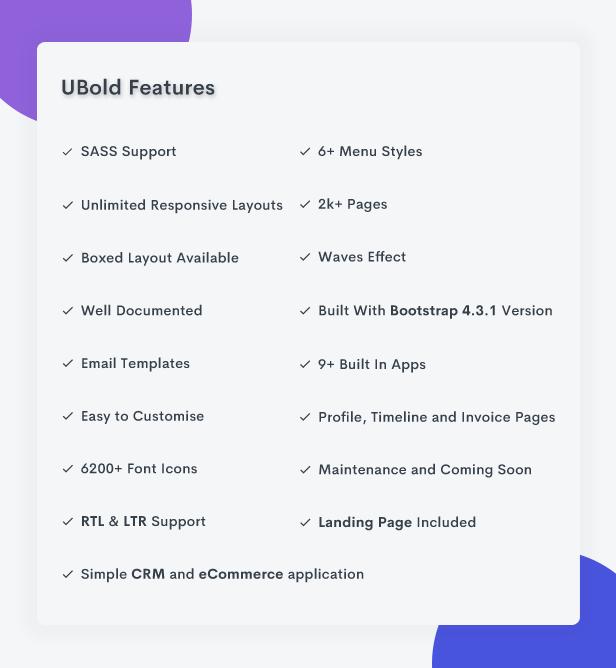 Ubold Admin - Bootstrap 4 Admin Dashboard Template - 6