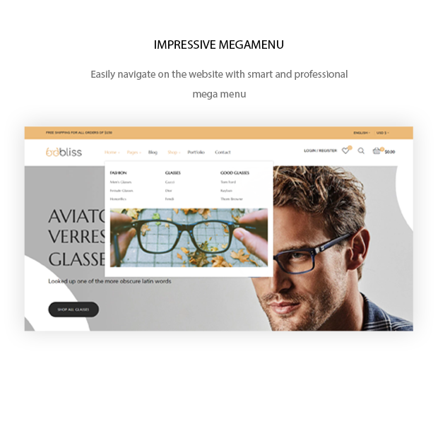 Oobliss Glasses Store - Responsive Prestashop Theme