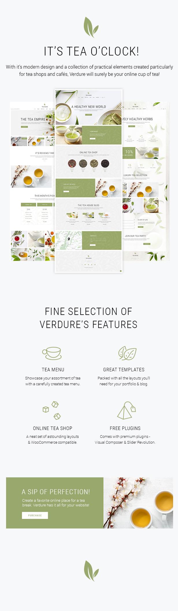 Verdure - Organic Tea Shop Theme by Mikado-Themes | ThemeForest