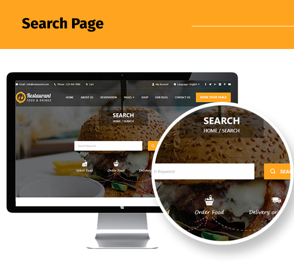 restaurant-food-and-drink-template Search apge