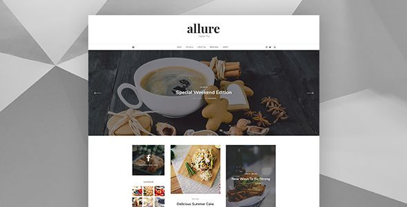 Allure - Personal Blog Template - Personal PSD Templates