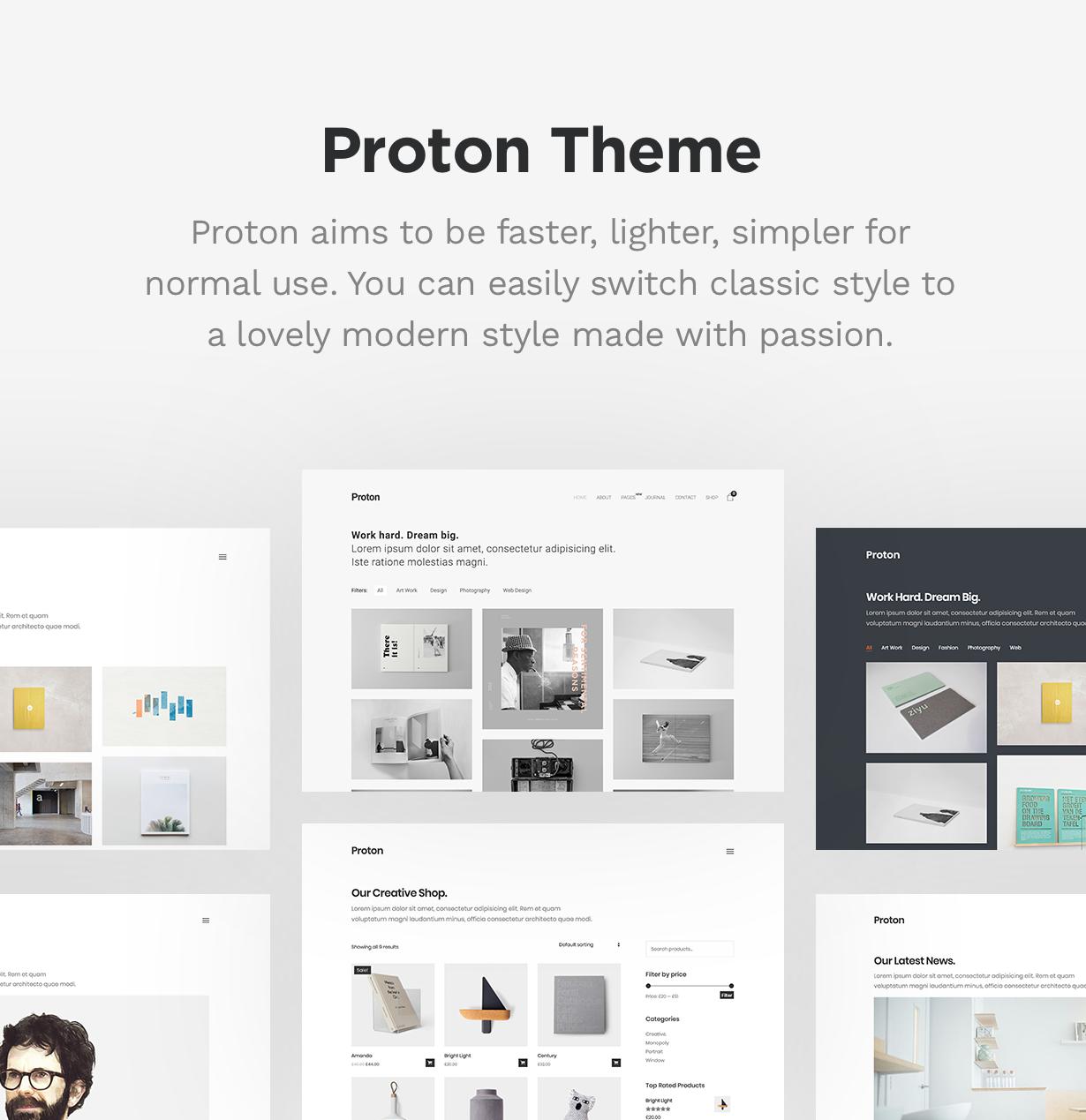 Proton - Minimal Portfolio Theme - 4