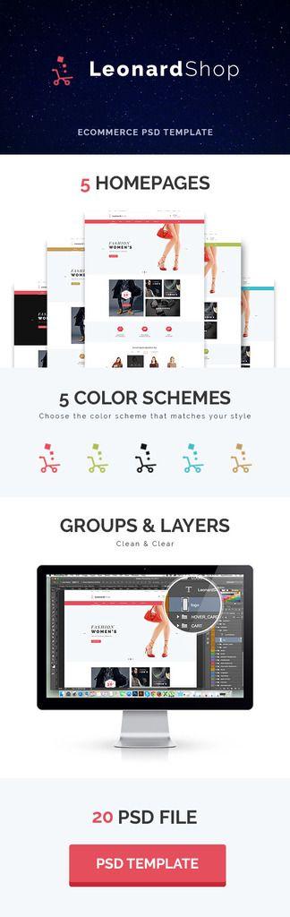 LeonardShop - E-Commerce and Blog PSD Theme - 1