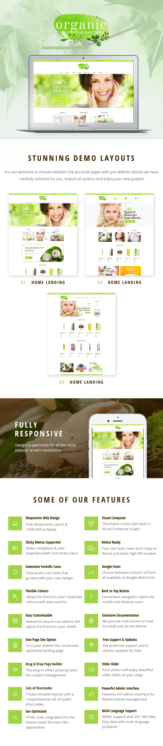 Organic Beauty v1.4.2-化妆品店/天然有机美容WordPress主题插图2