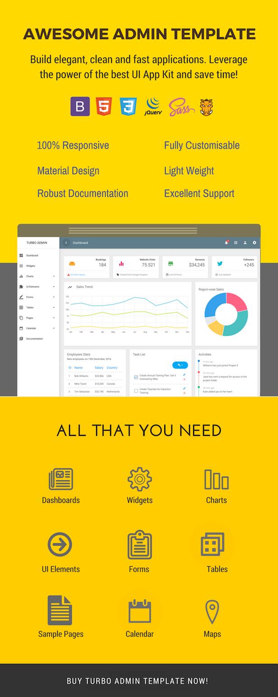 Turbo Material Admin Dashboard - Bootstrap Admin Template - 1