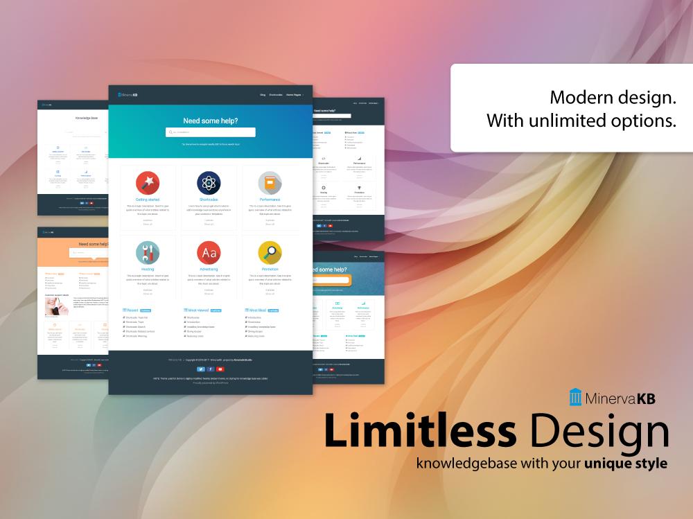 MinervaKB Limitless design options