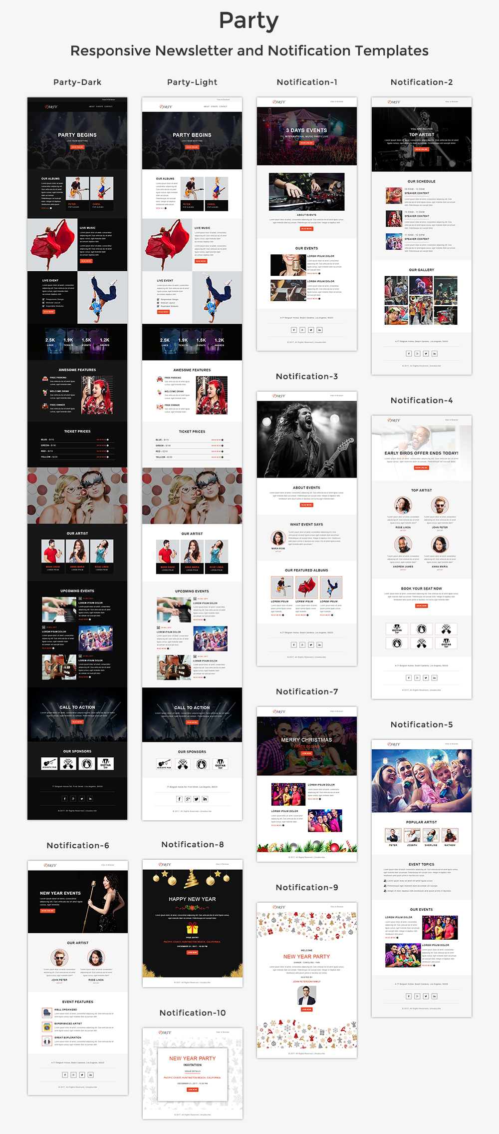 Party - Responsive Email Template + Stampready Builder