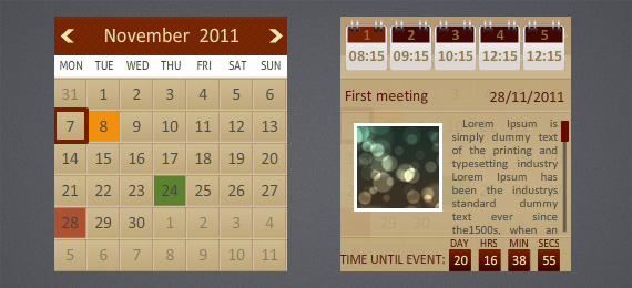 Wordpress Multiple Events Calendar with Countdown - 8