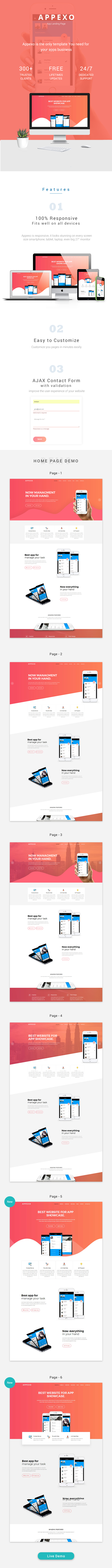 Appexo App Landing Page. - 4