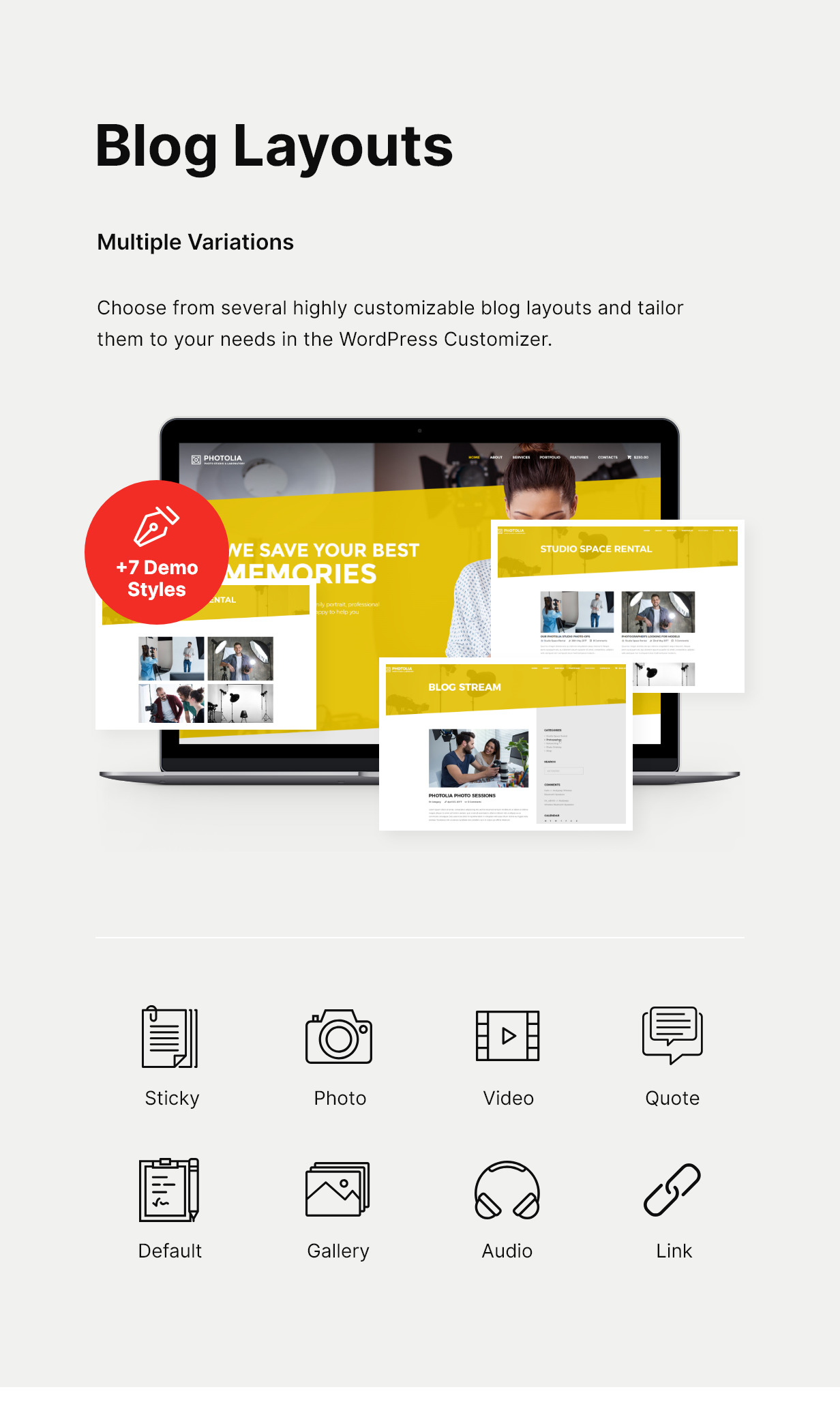 Photolia | Photo Company & Photo Supply Store WordPress Theme - 4