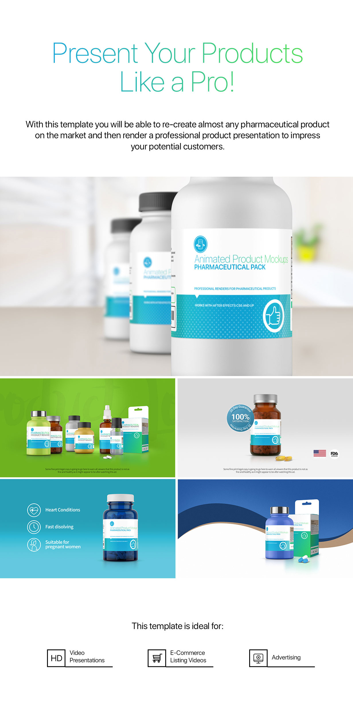 Animated Product Mockups - Pharmaceutical Pack - 2