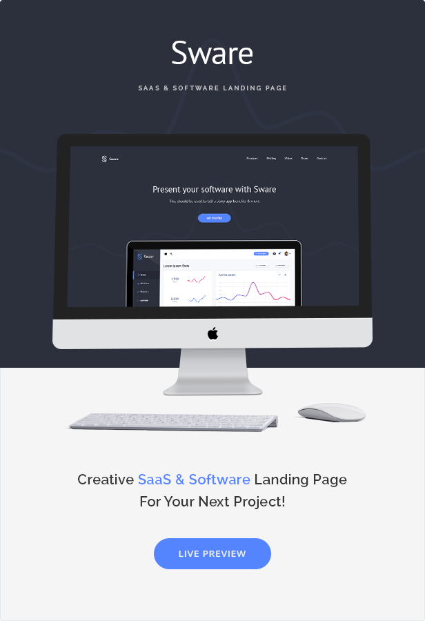 Sware SaaS & Software Landing HTML5 Page Template - 1