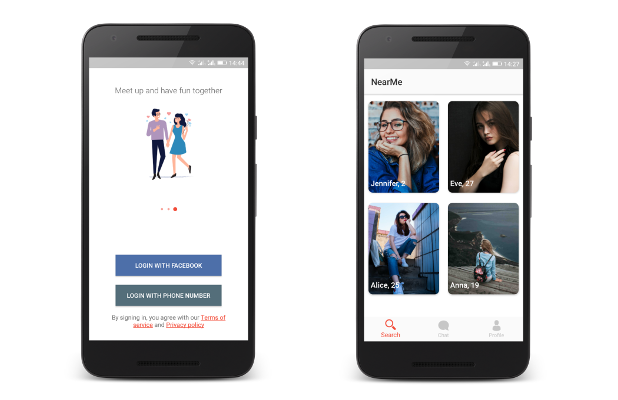 NearMe | Android Dating App (Android Studio & Firebase) - 2