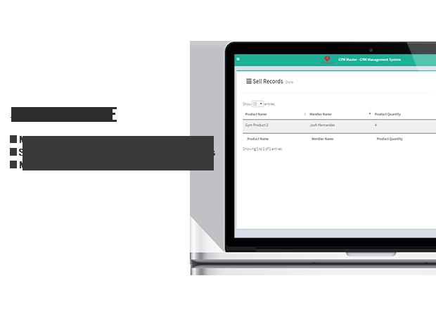gym consumer store accounts module
