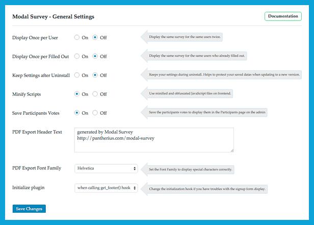 ووردبريس Modal Survey - WordPress Poll, Survey & Quiz Plugin