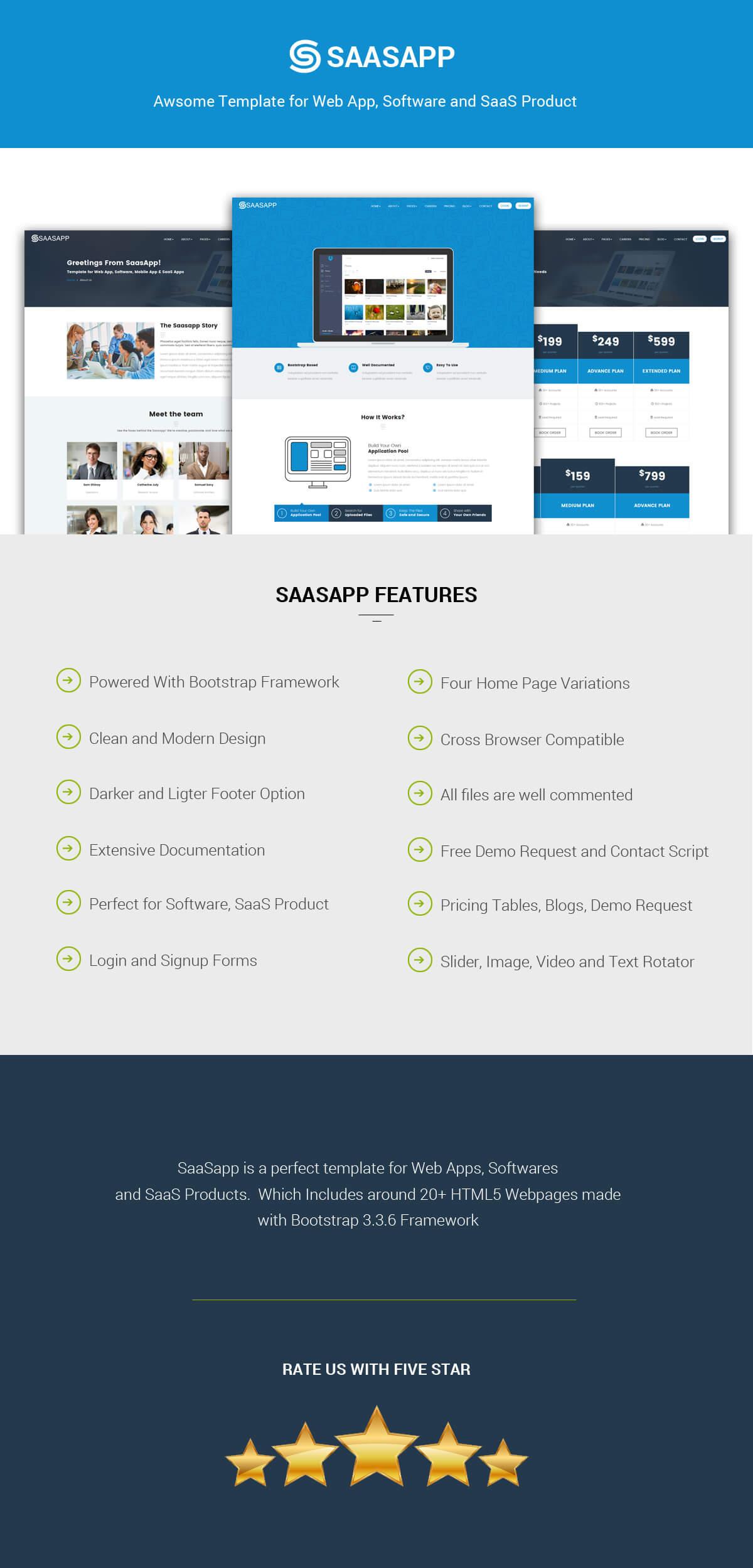 Saasapp Webappsoftwaresaas Product Template By Pentathemes