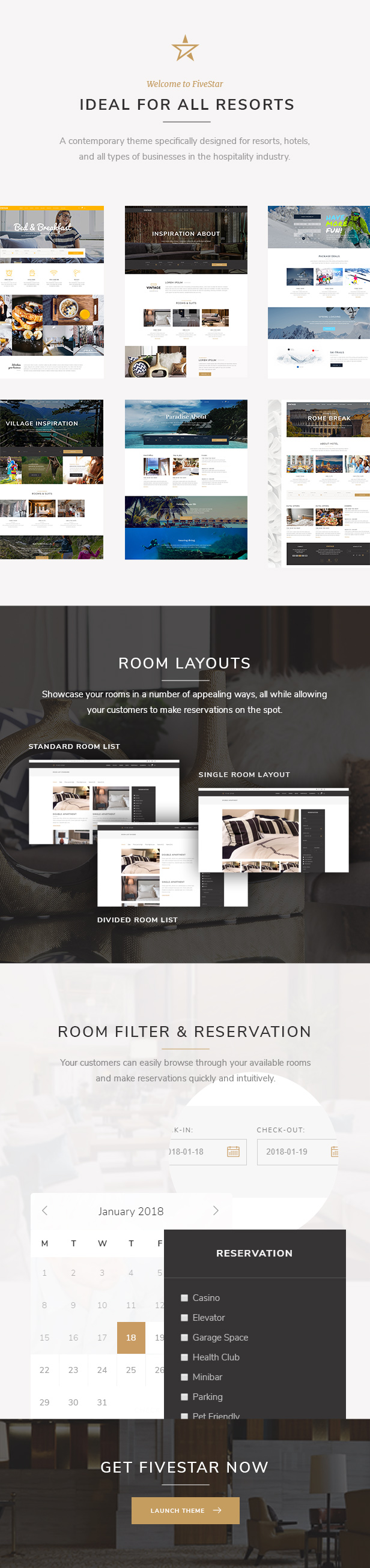 FiveStar - Theme for Hotels and Resort Booking - 1