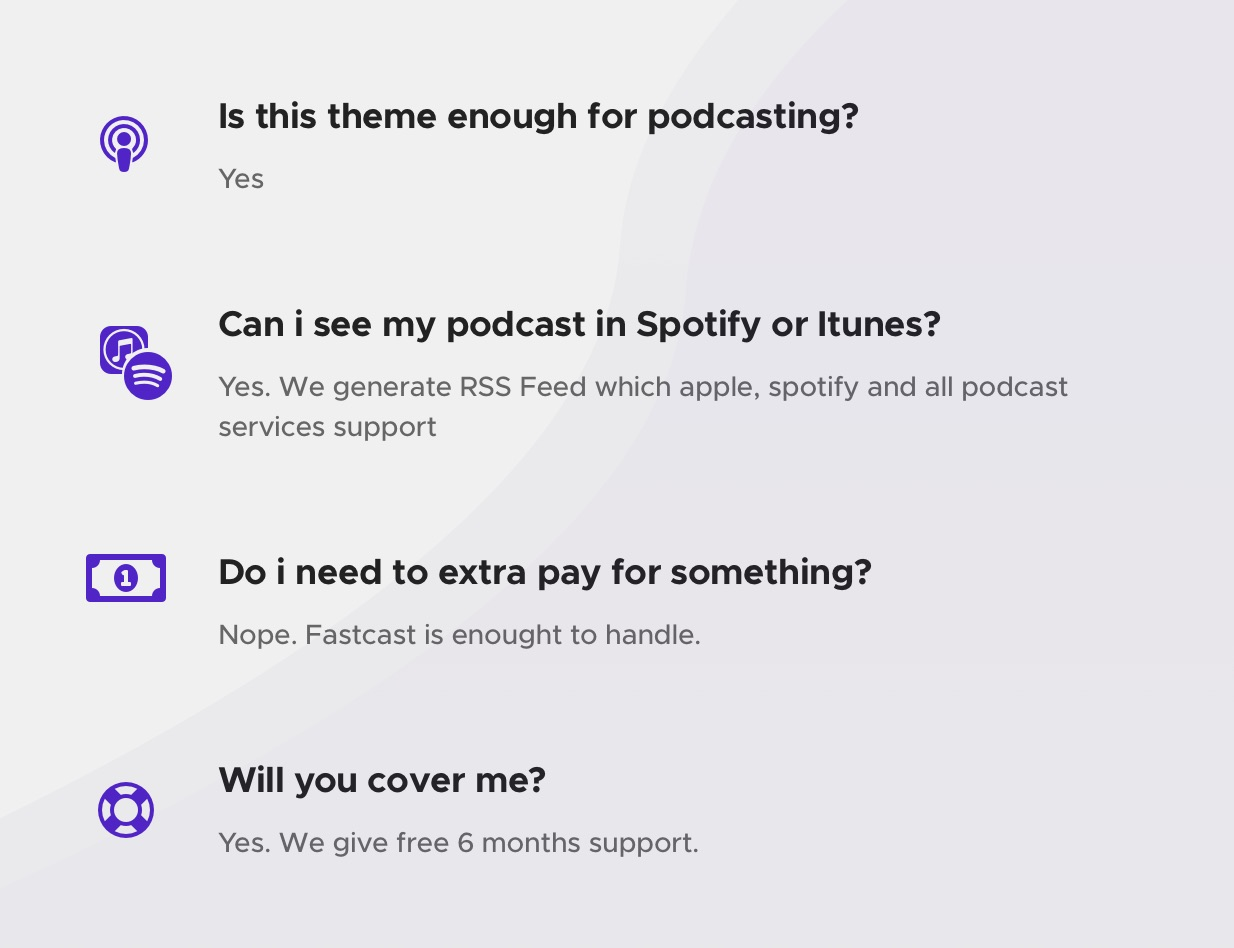Fastcast - Podcast WordPress Theme