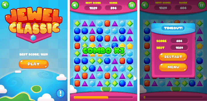 Jewel Classic - HTML5 Puzzle Game (Construct 3) - 1