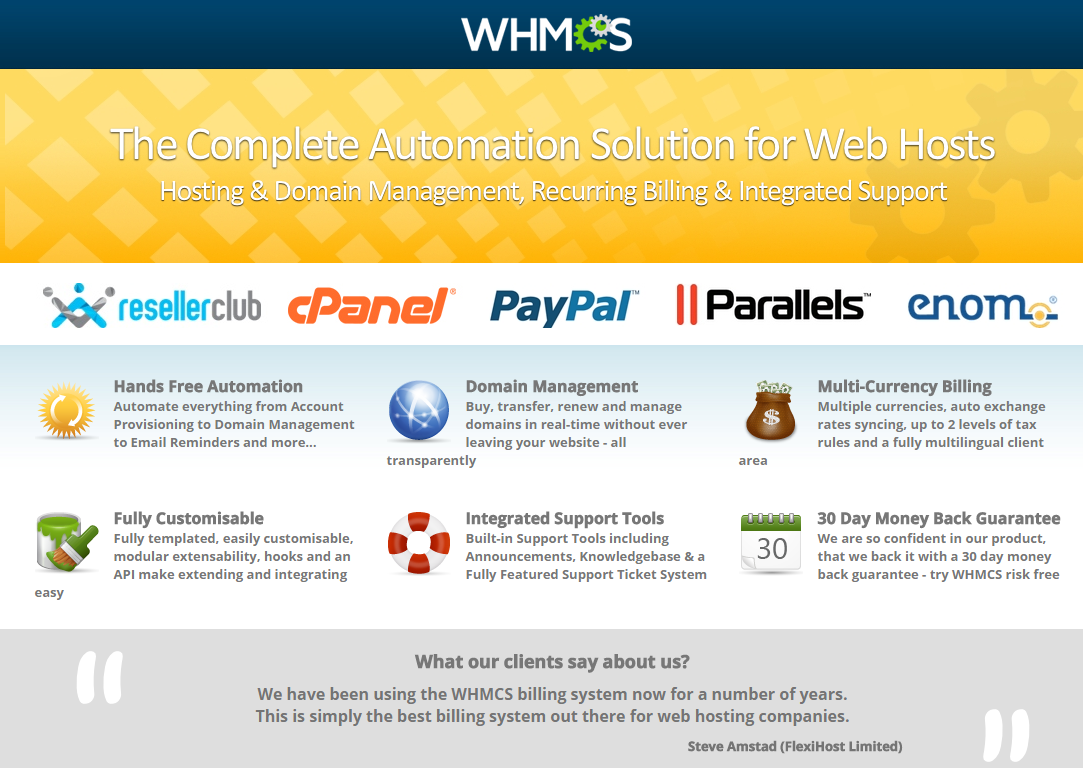 AOX HOST - A Professional Hosting Theme + WHMCS - 1