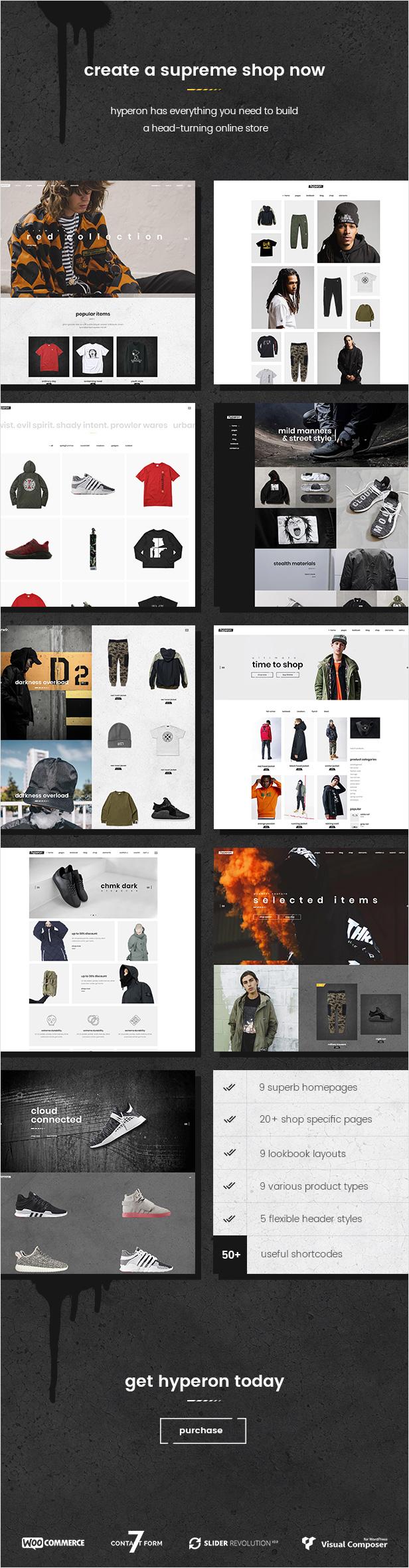 Hyperon - A Streetwear WooCommerce Theme