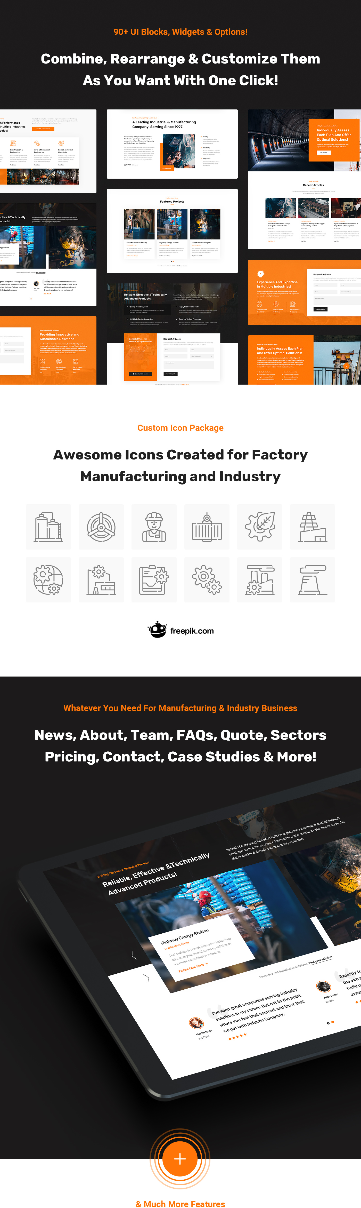 Industic - Factory and Manufacturing HTML5 Template - 8