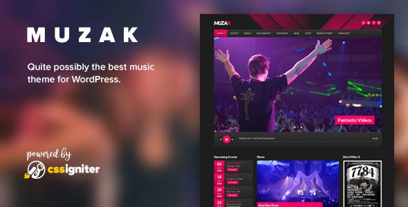 Muzak - Music WordPress theme - Music and Bands Entertainment