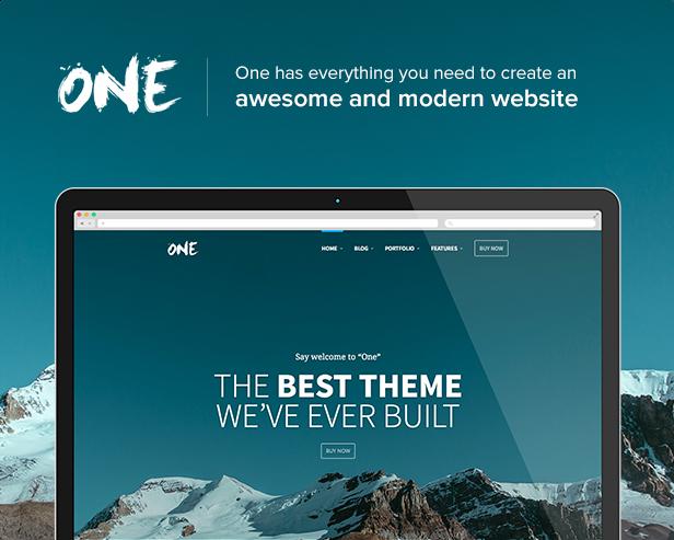 One - The Creative Multipurpose Portfolio theme - 1