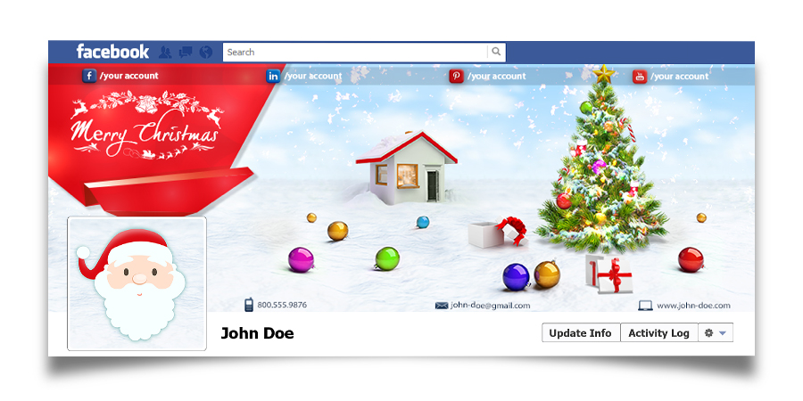 Christmas Real Estate Twitter Cover - 12