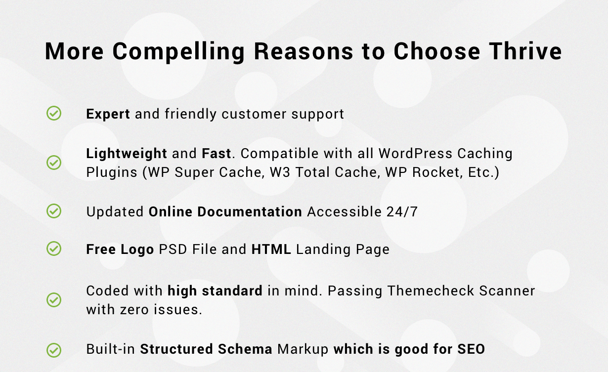 Compelling Reasons to Choose thrive