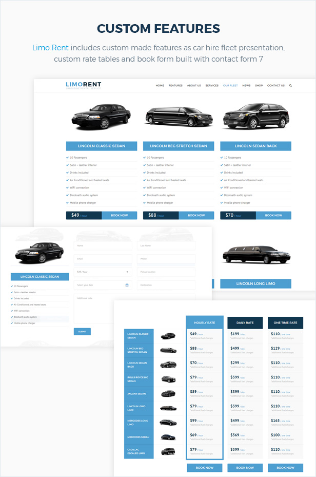 Limo Rent - Limousine and Car Rent WordPress Theme - 5
