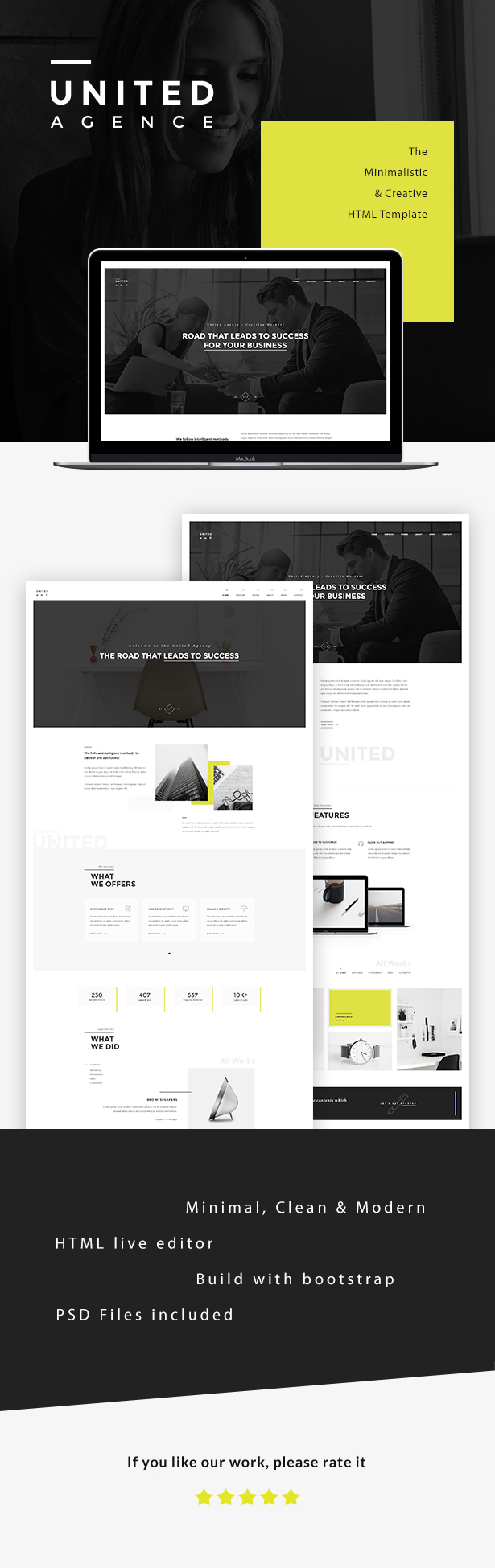 UNITED - Minimal HTML by Templines | ThemeForest