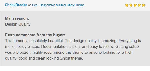 Eva - Responsive Minimal Ghost Theme - 1