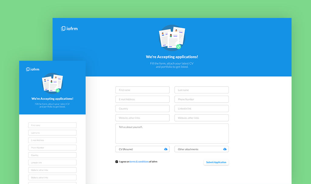 Iofrm - Login and Register Form Templates - 4
