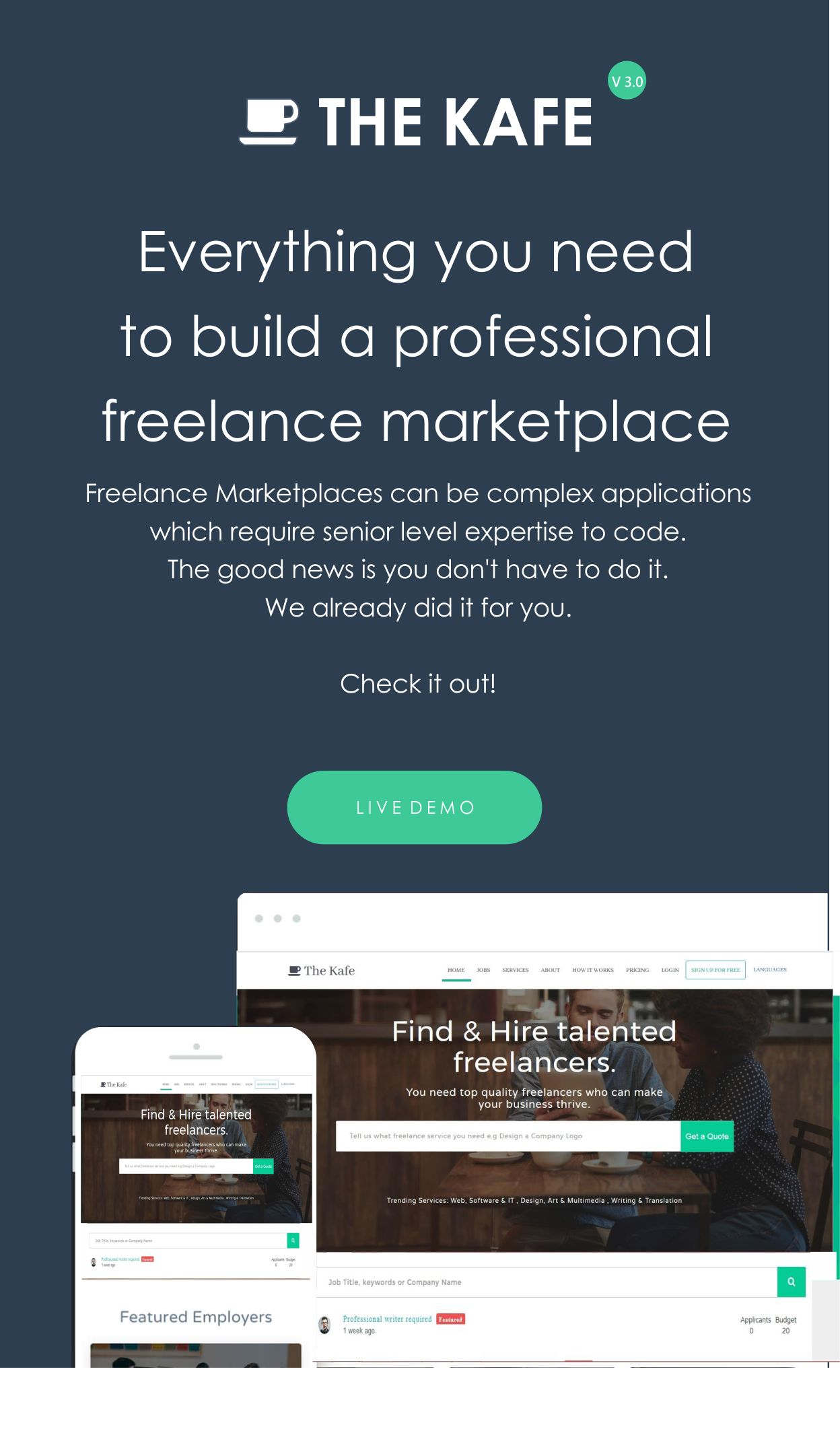 The Kafe - Ultimate Freelance Marketplace - 3