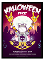 Halloween Nuclear Poster - 2