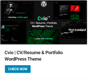 Cvio WordPress Theme