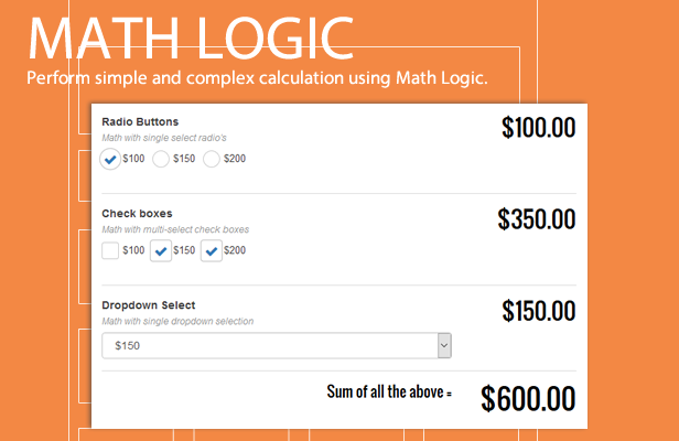 NEX-Forms - The Ultimate WordPress Form Builder - Math Logic in Forms