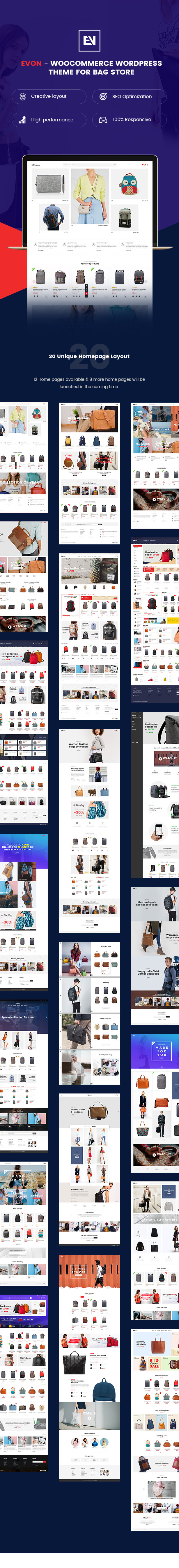 Evon - Bag Store WooCommerce WordPress Theme - 1