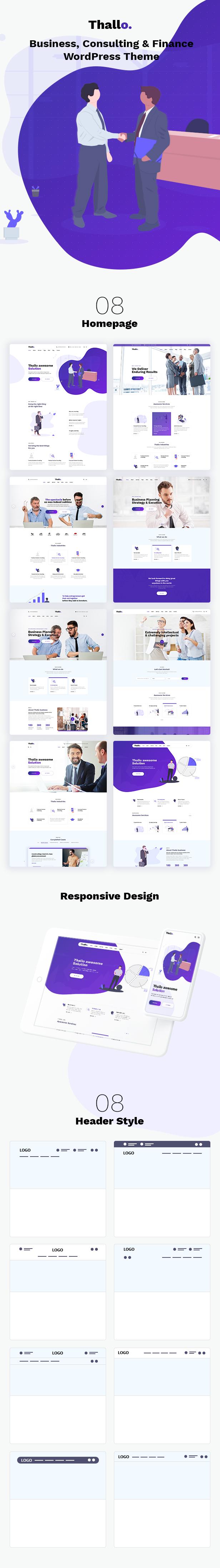 Thallo v1.0.4-咨询和金融WordPress主题插图2