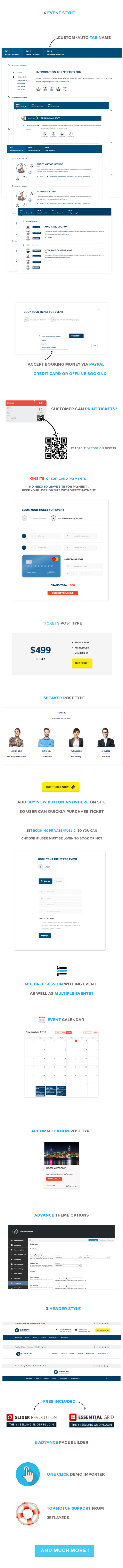 eventcon event Conference wordpress theme's features