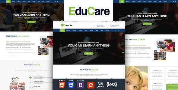 EduCare - Education Responsive HTML Template - Business Corporate