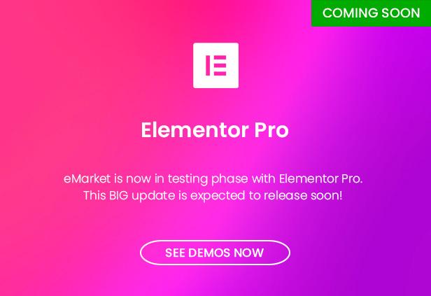 eMarket - Multi Vendor MarketPlace WordPress Theme - Elementor Page Builder