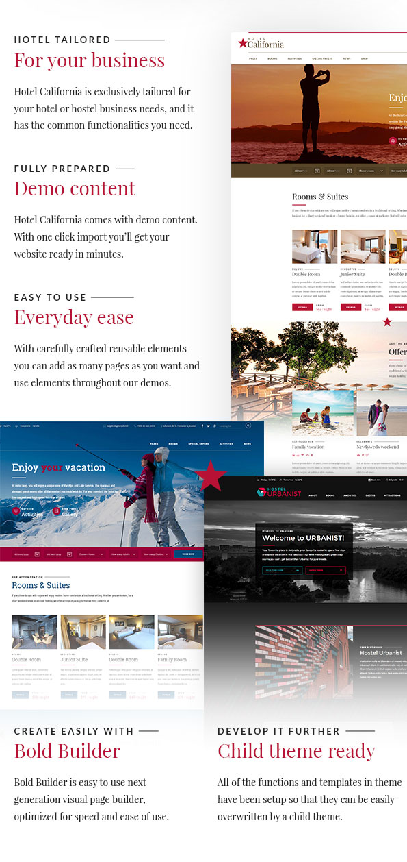 Hotel & Hostel Wordpress Theme - Hotel California - 2