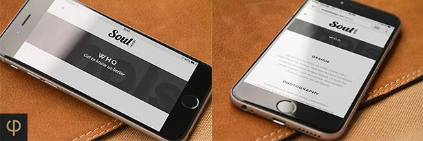 iPhone 6 Mockups Leather - 3