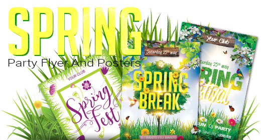Spring Break Festival Party Flyers And Posters