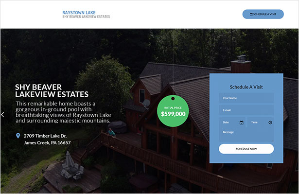 Single Property Real Estate WordPress Theme
