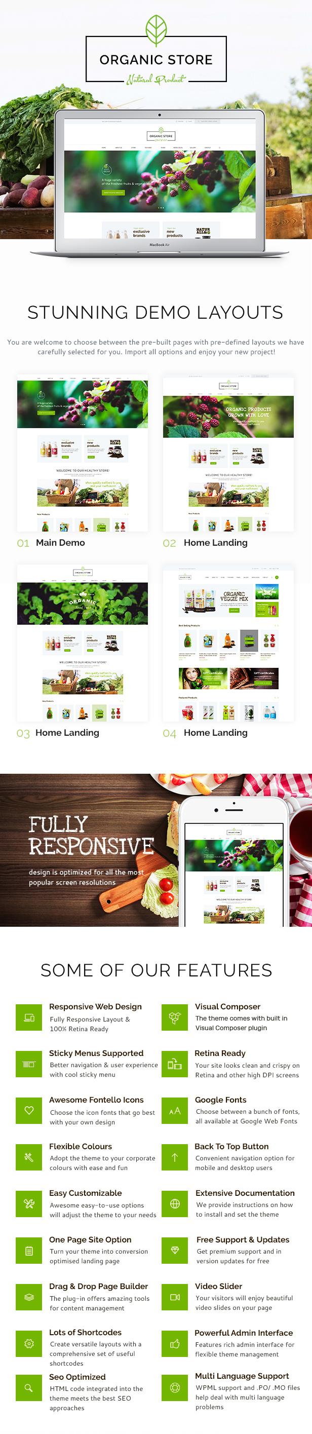 Organic Store | Organic Food & Eco Products WordPress Theme + RTL - 1