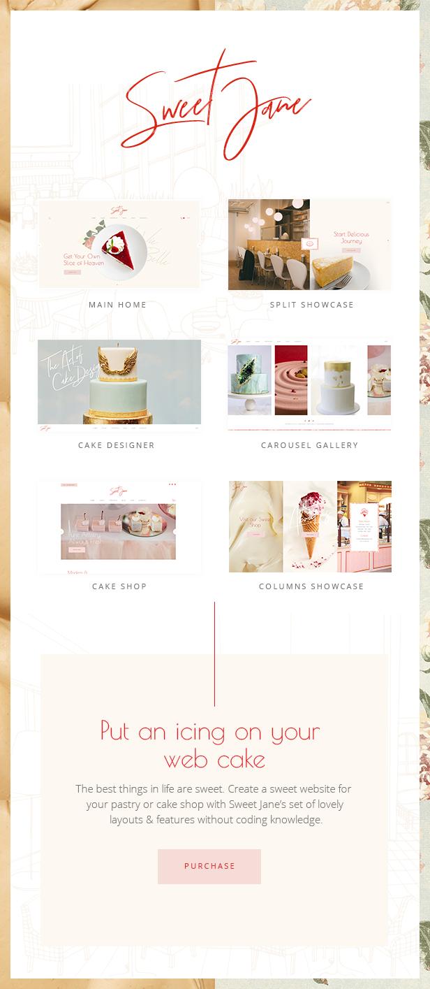 Sweet Jane - Delightful Cake Shop Theme - 1