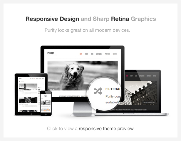 Purity: Responsive, Clean, Minimal & Bold WP Theme by Veented ...